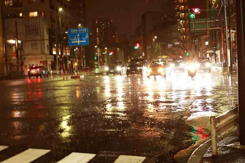 雨の日の走行